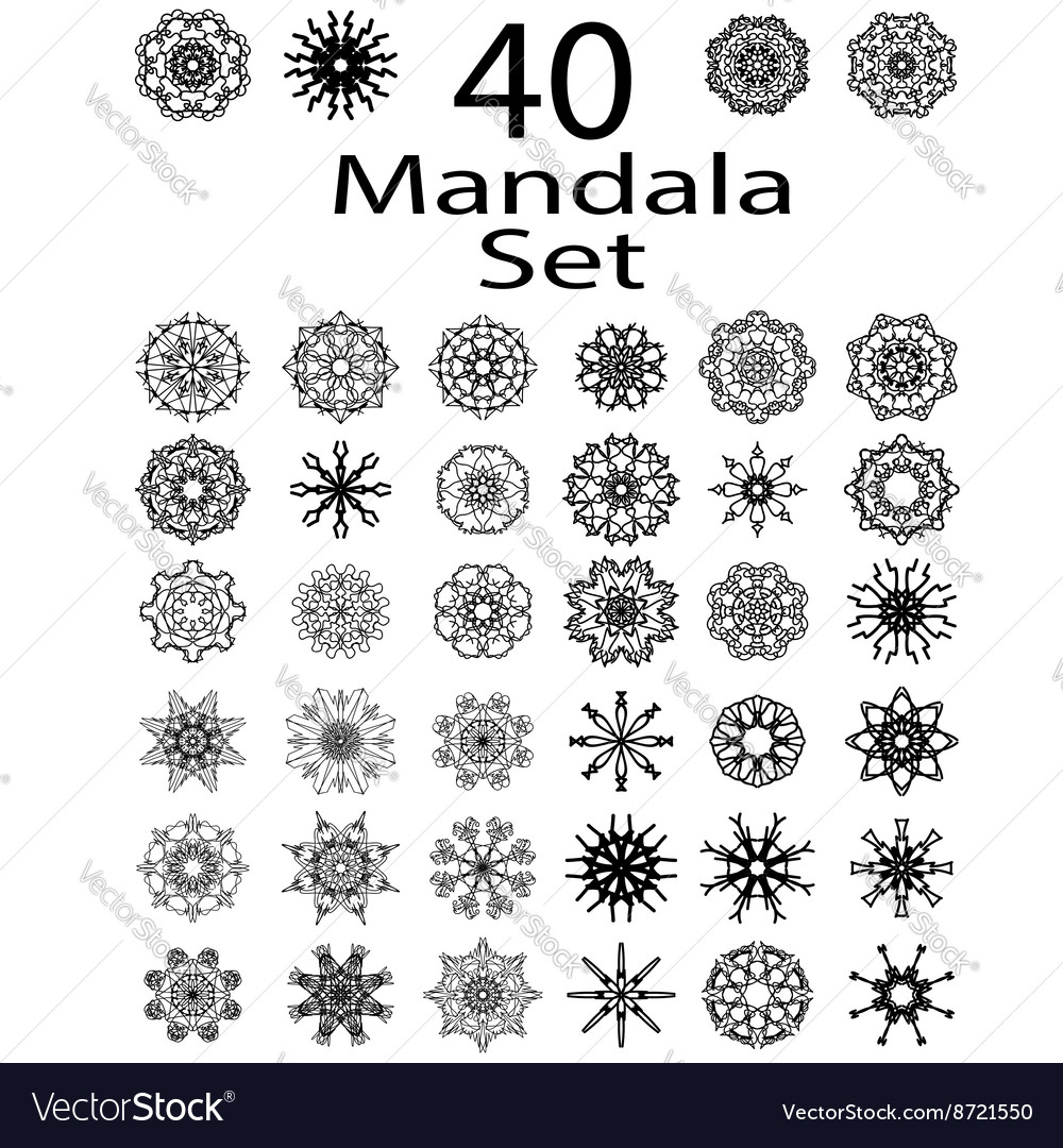 Ethnic amulet of mandala vector