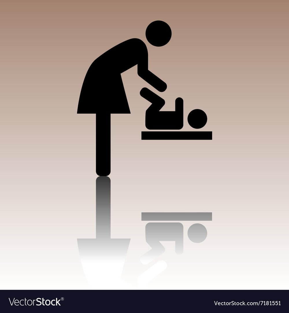Symbol for women and baby vector