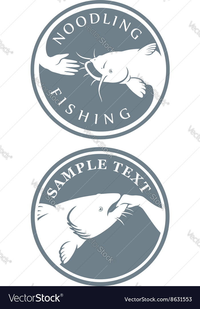 Fishing icon vector