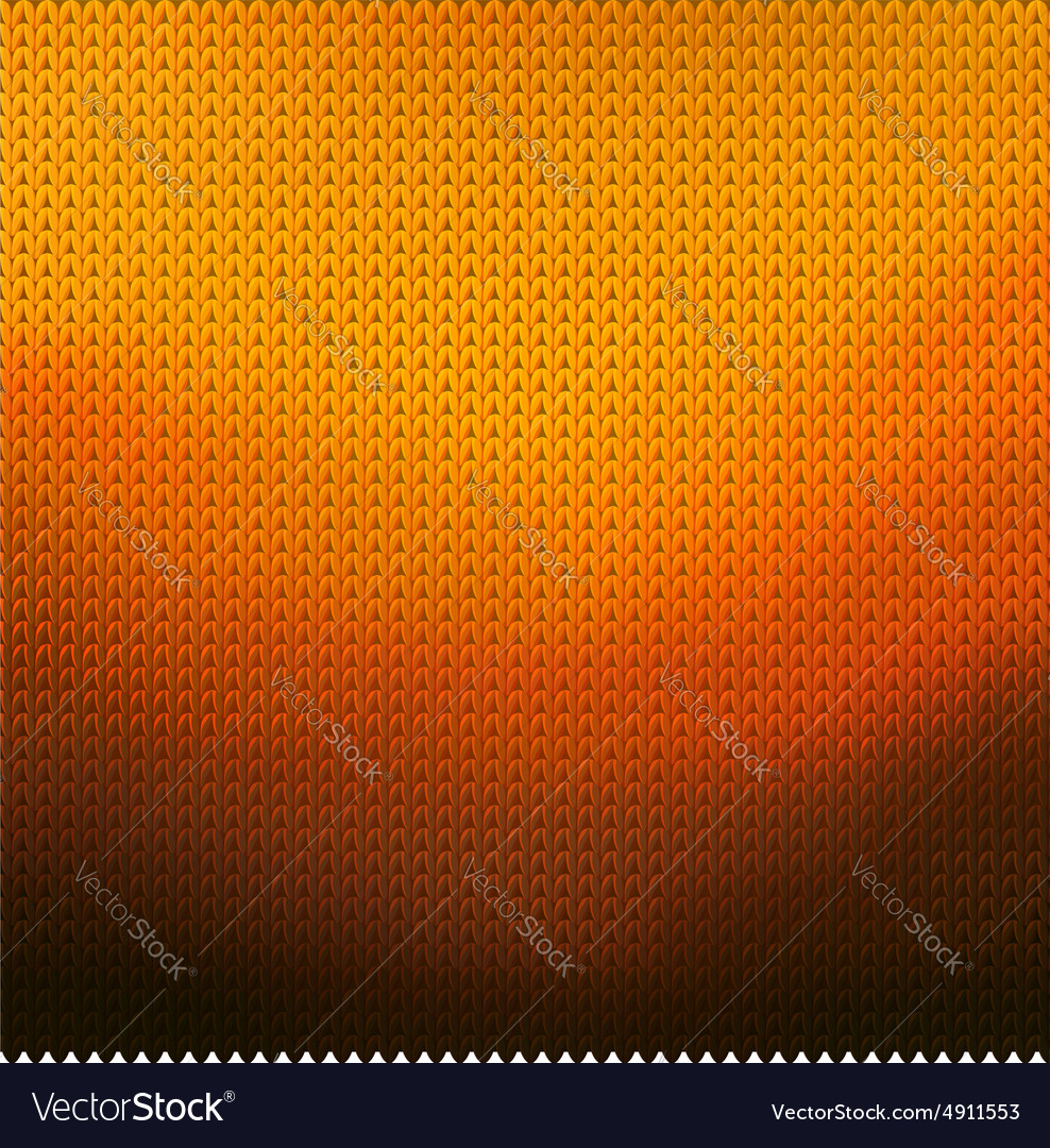 Knitted orange background vector