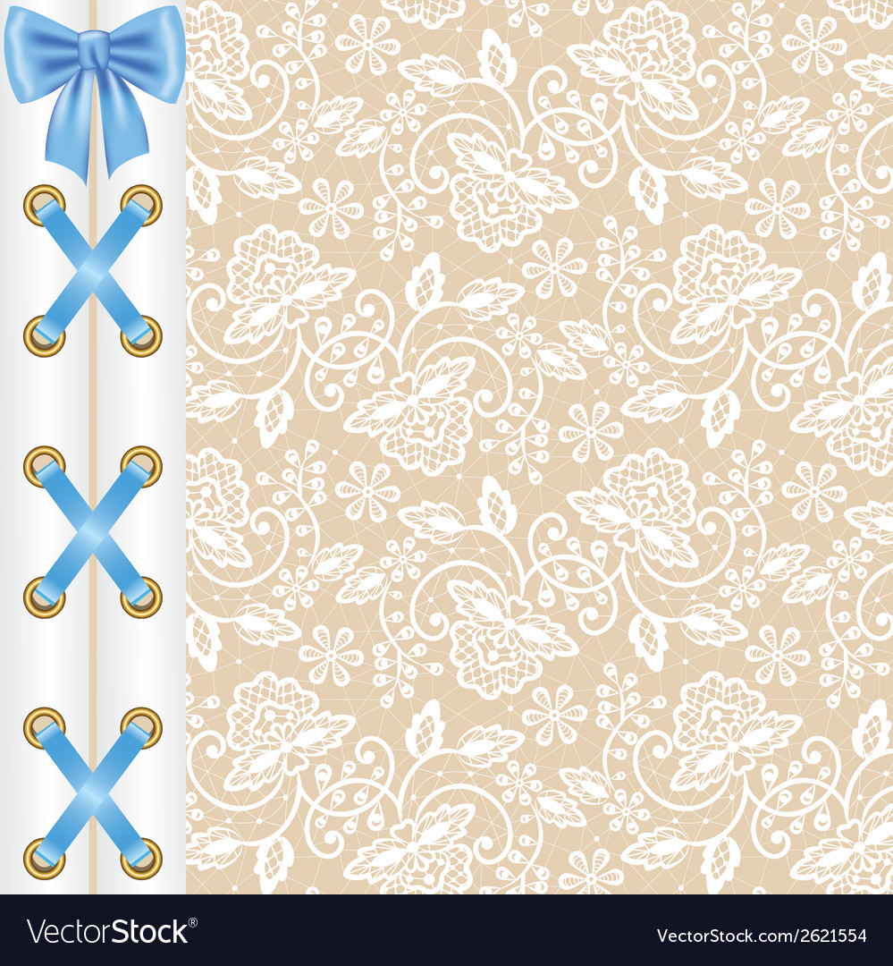 Background with corset lacing vector