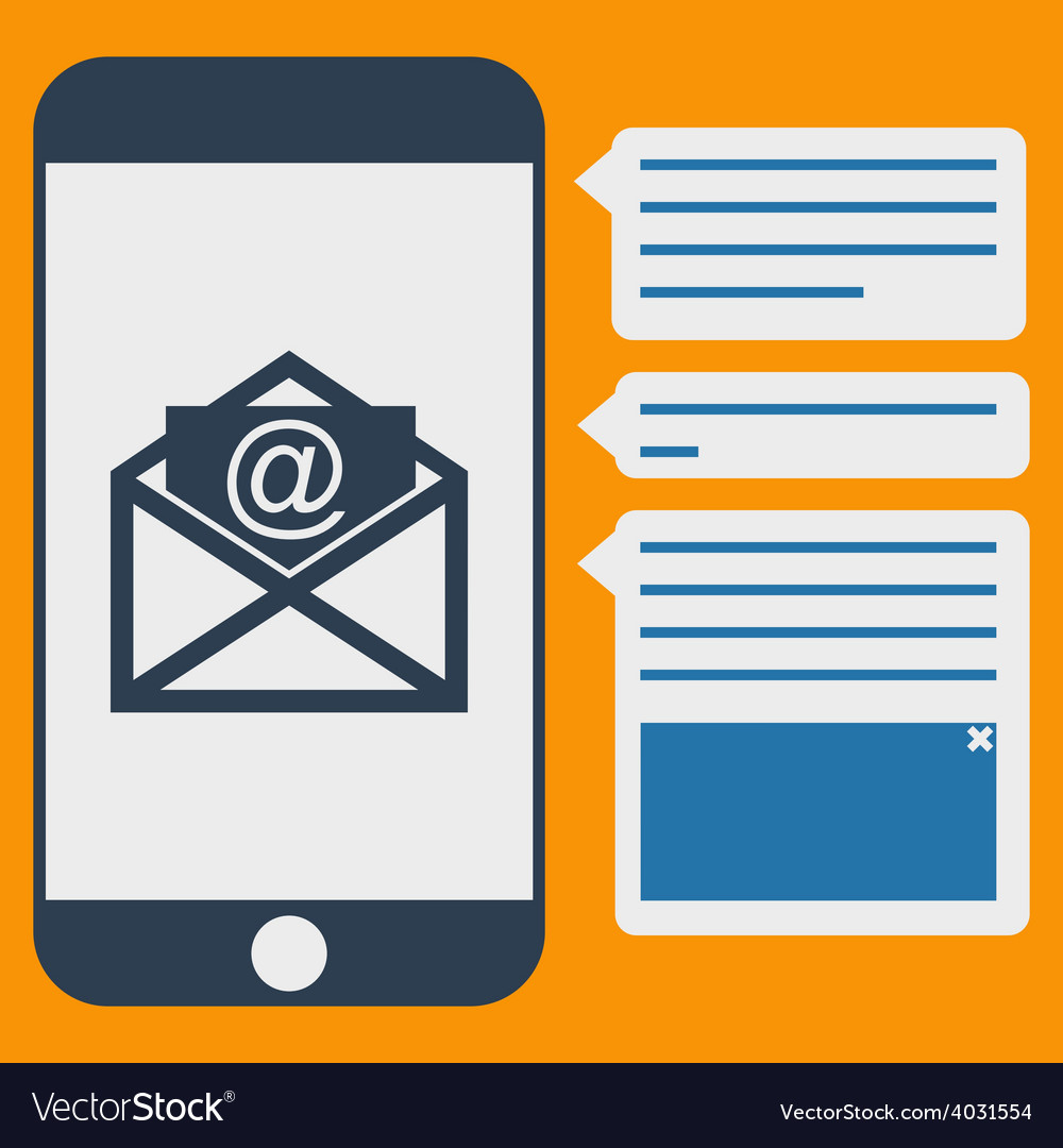 Phone messages vector