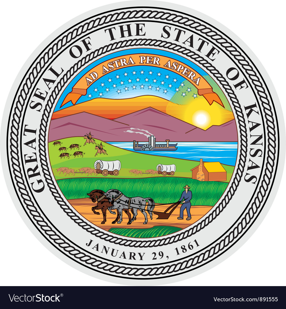 Kansas seal vector