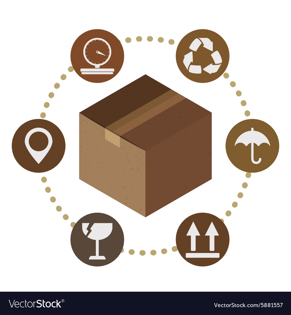 Delivery box design vector