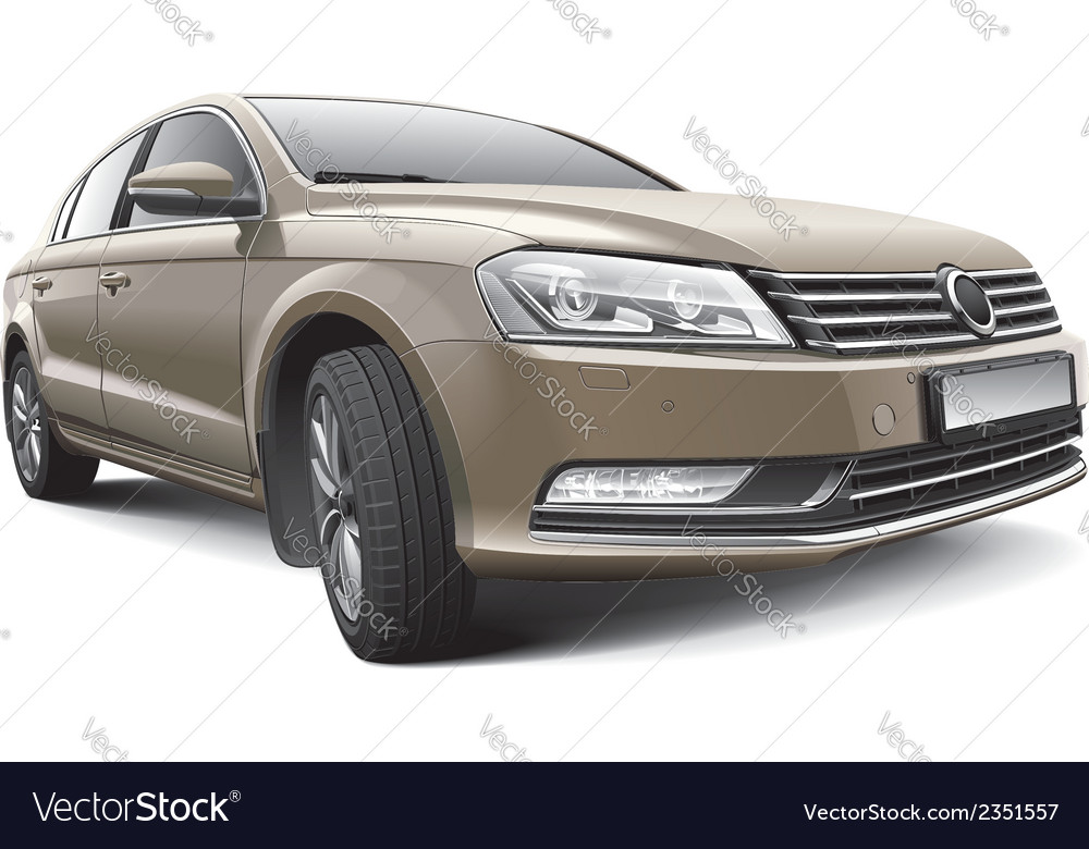 Germany large family car vector