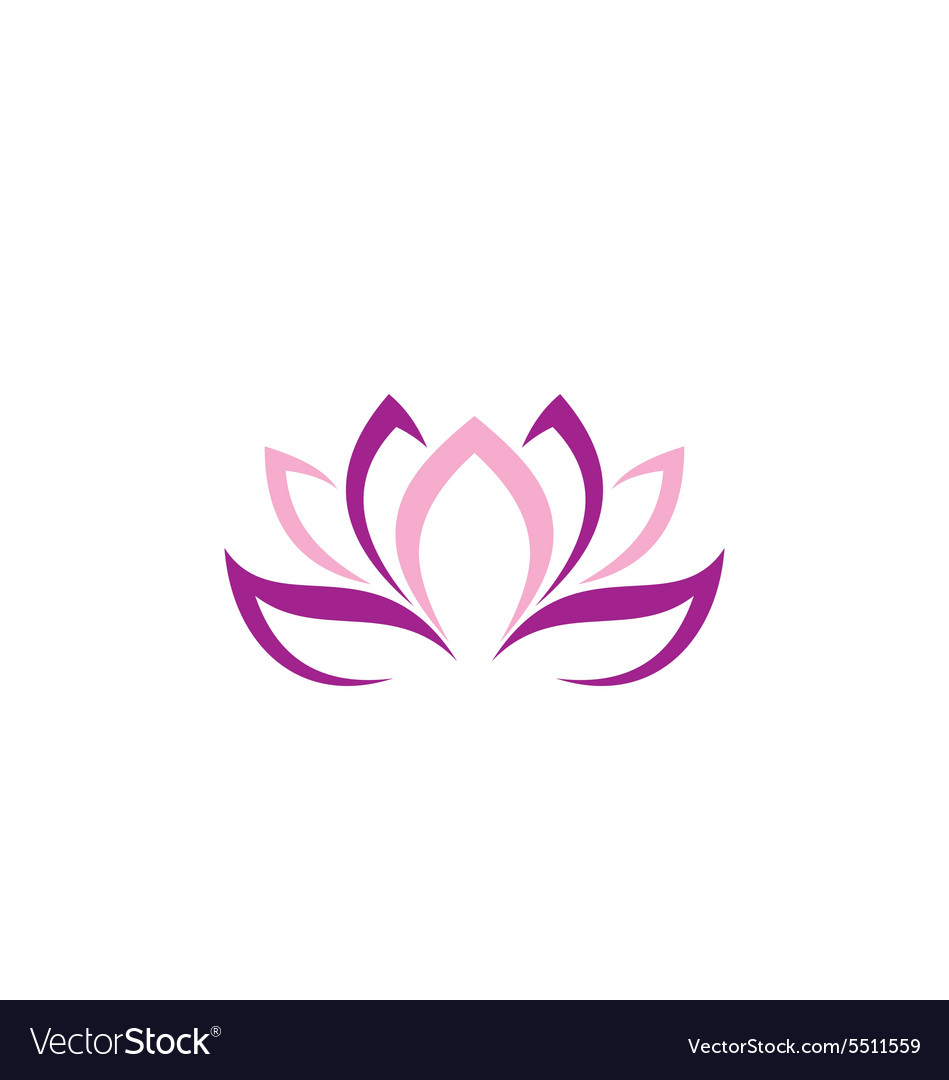 Beauty lotus flower abstract logo vector
