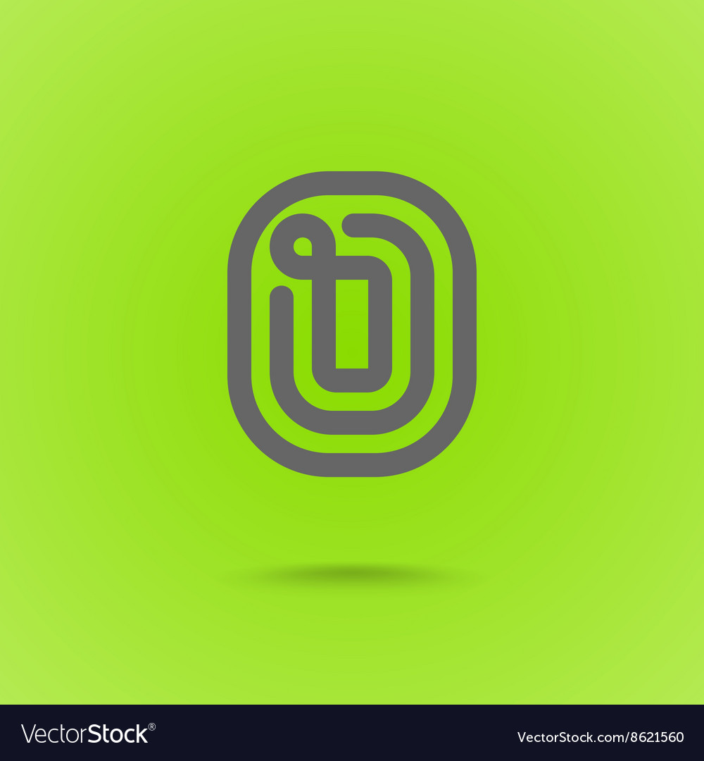 Graphic line font logo element letter o vector