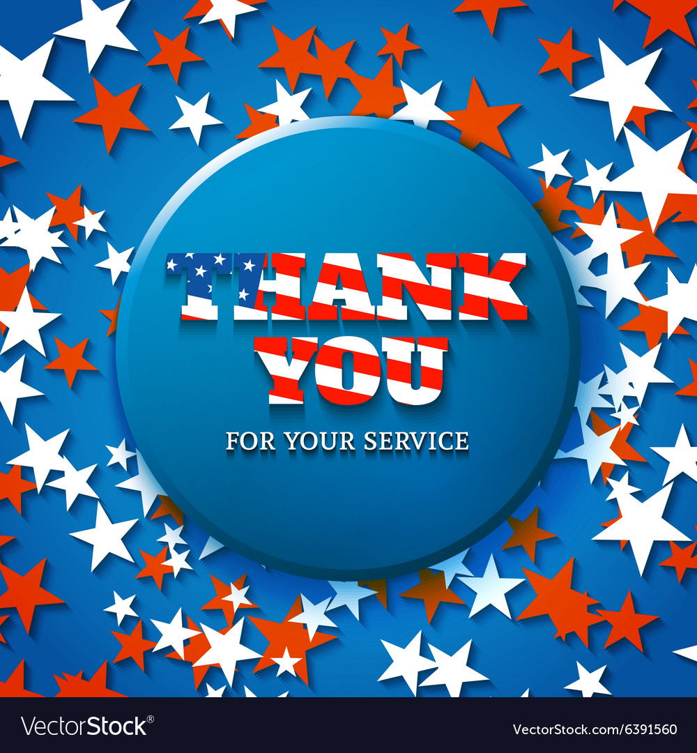 Thank you for your service military appreciation vector