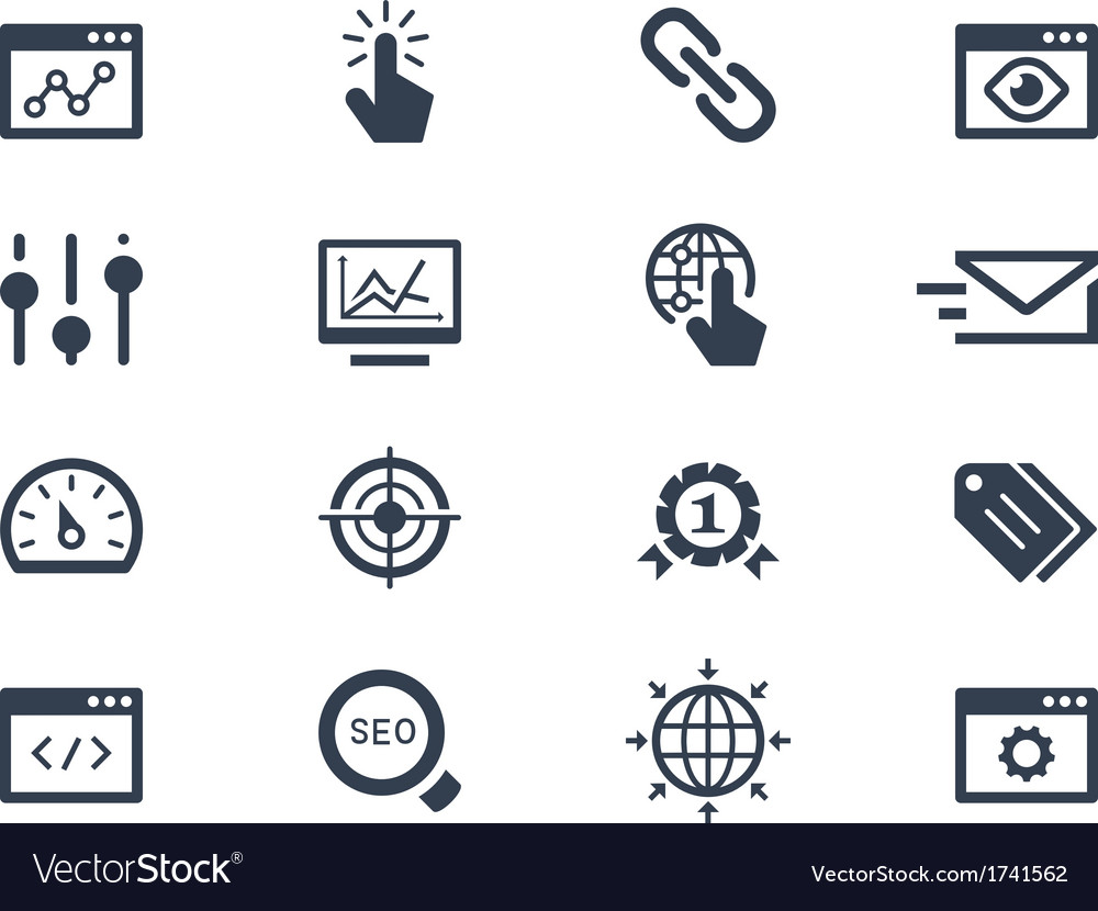 Seo and optimization icons vector