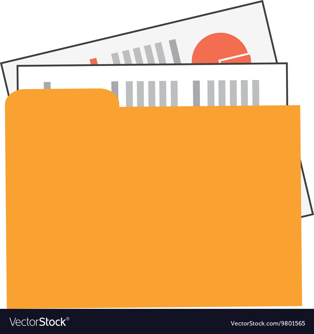 Folder with files icon vector