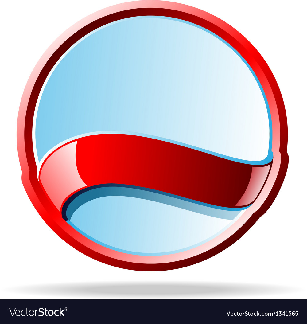 Mirror badge vector