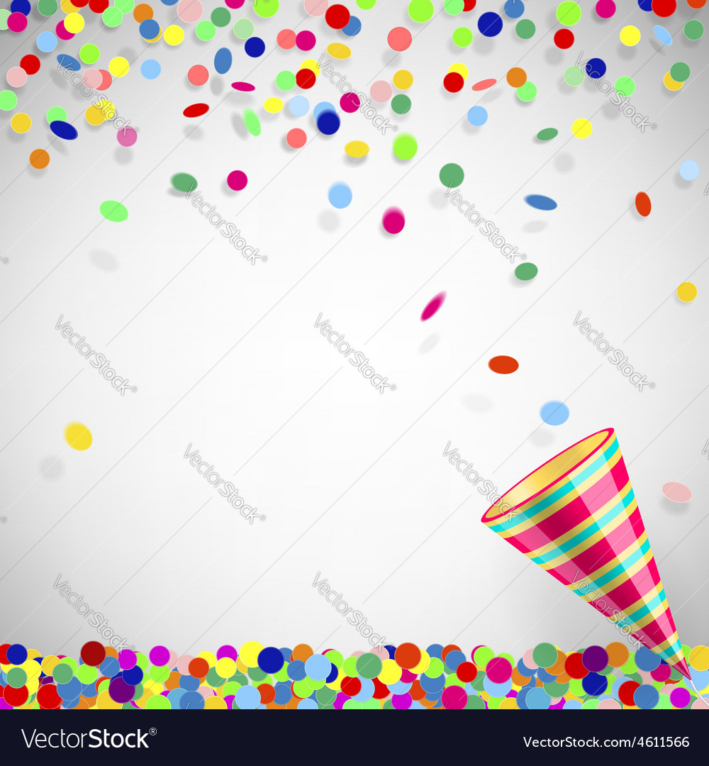 Colorful confetti vector