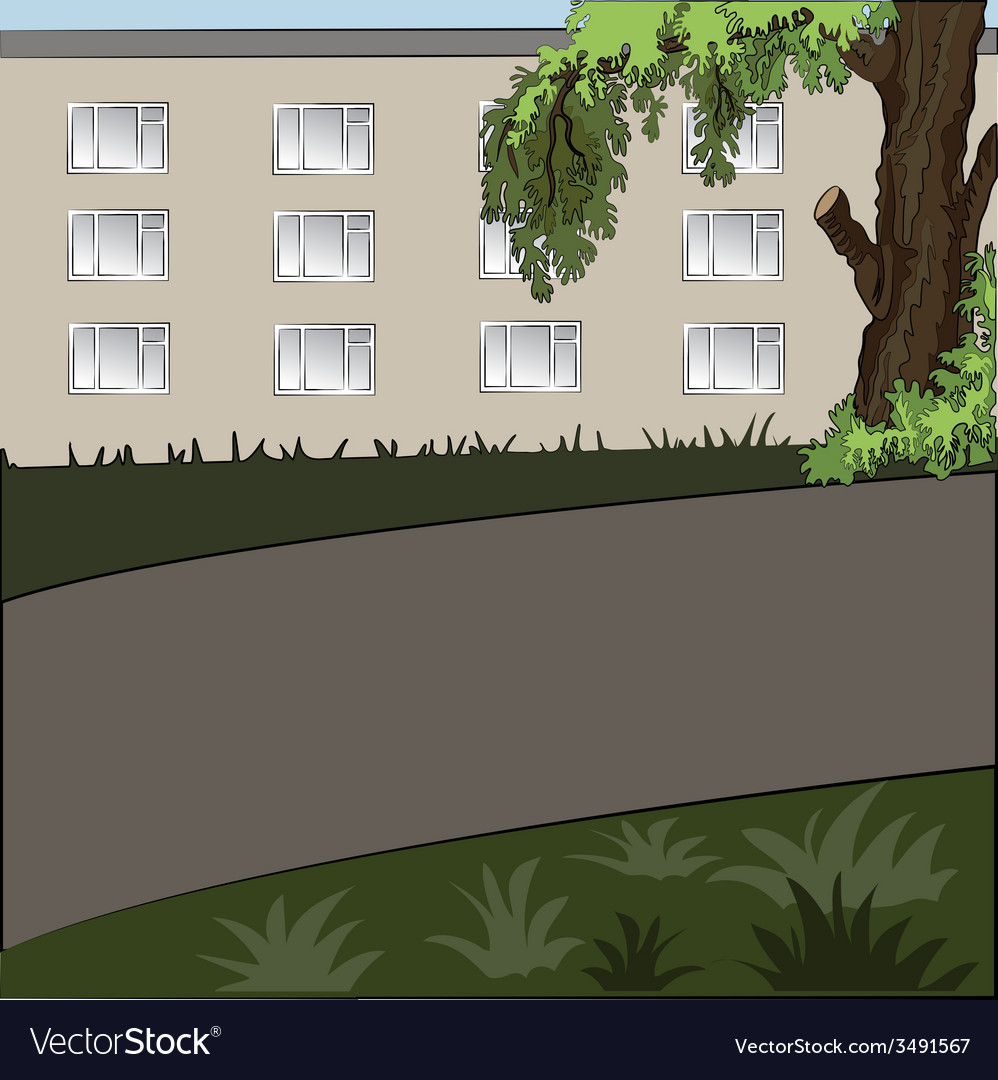 City landscape in the daytime vector