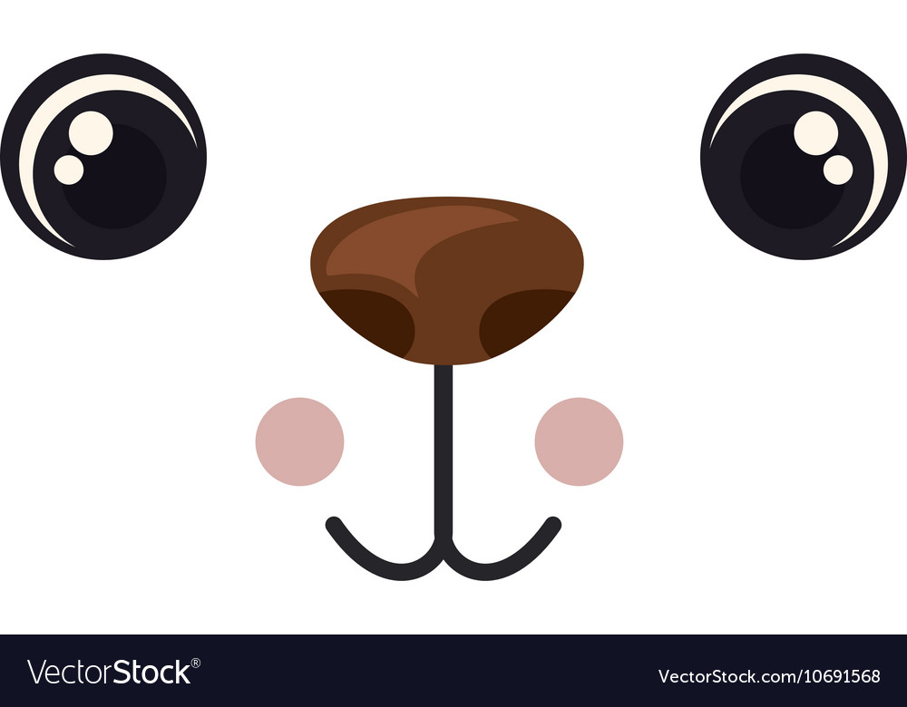 Cartoon face with expression design vector