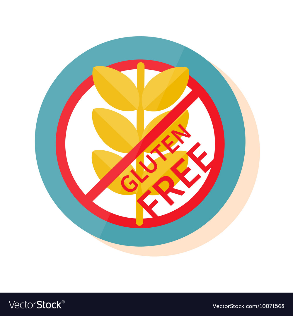 Gluten free label sign vector