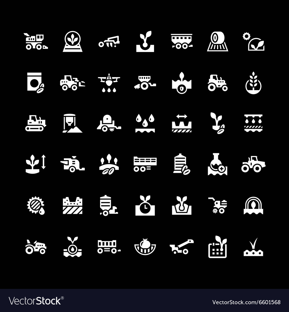 Set icons of agriculture vector