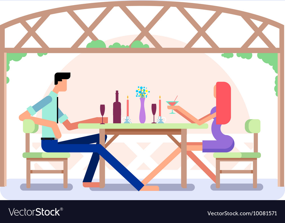 Romantic date design vector
