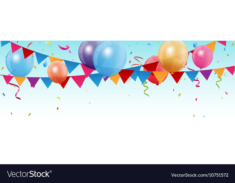 Birthday and celebration banner vector
