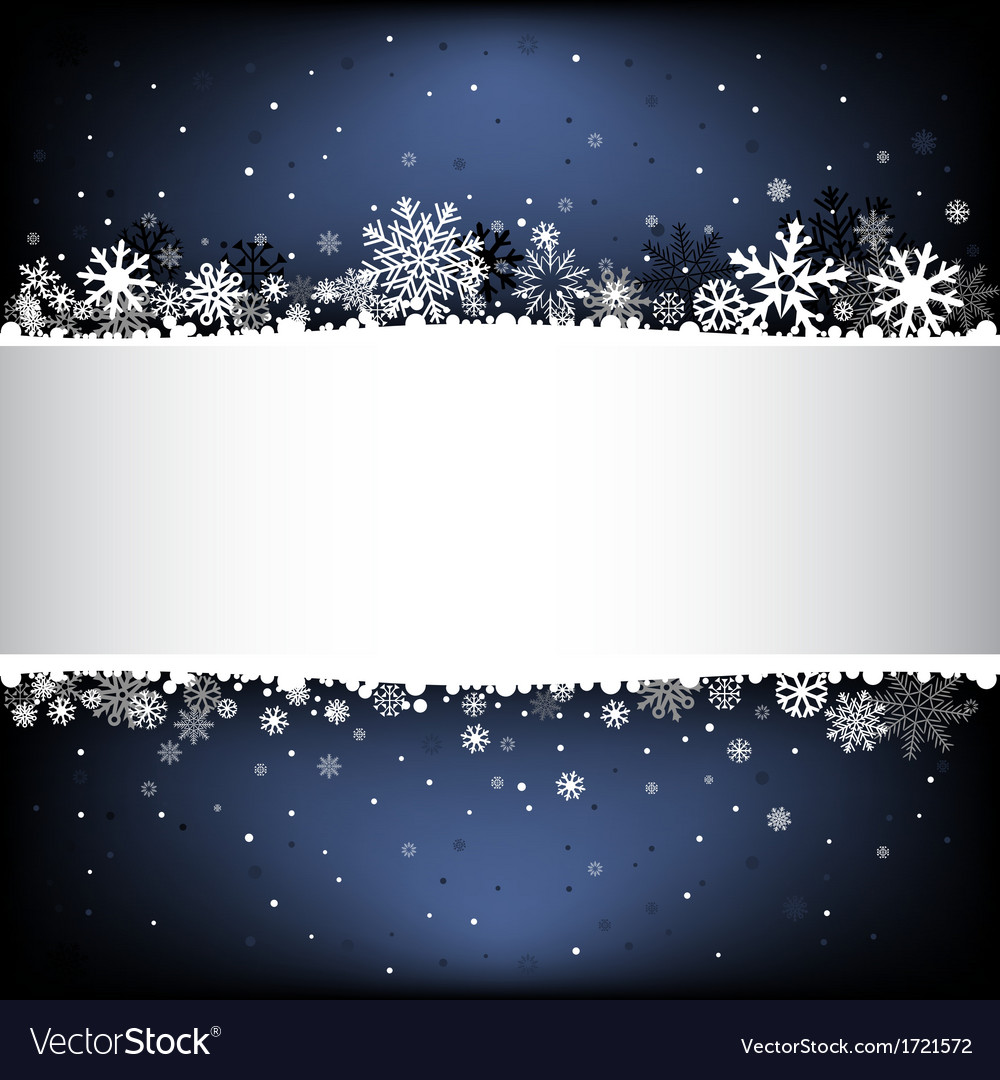 Dark blue snow mesh background with textarea vector