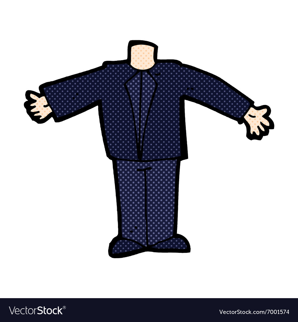 Comic cartoon body in suit mix and match comic vector