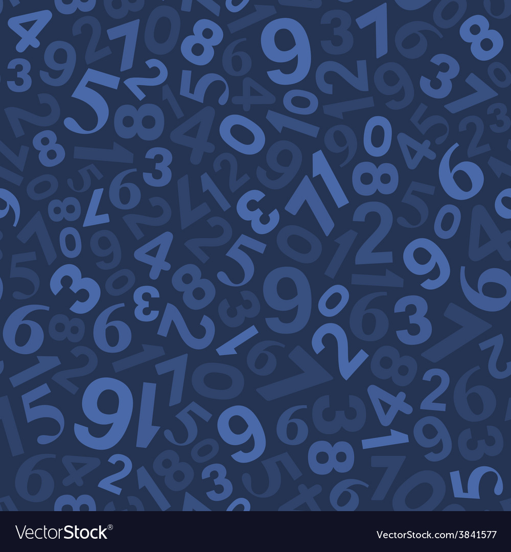 Seamless background pattern with numbers vector