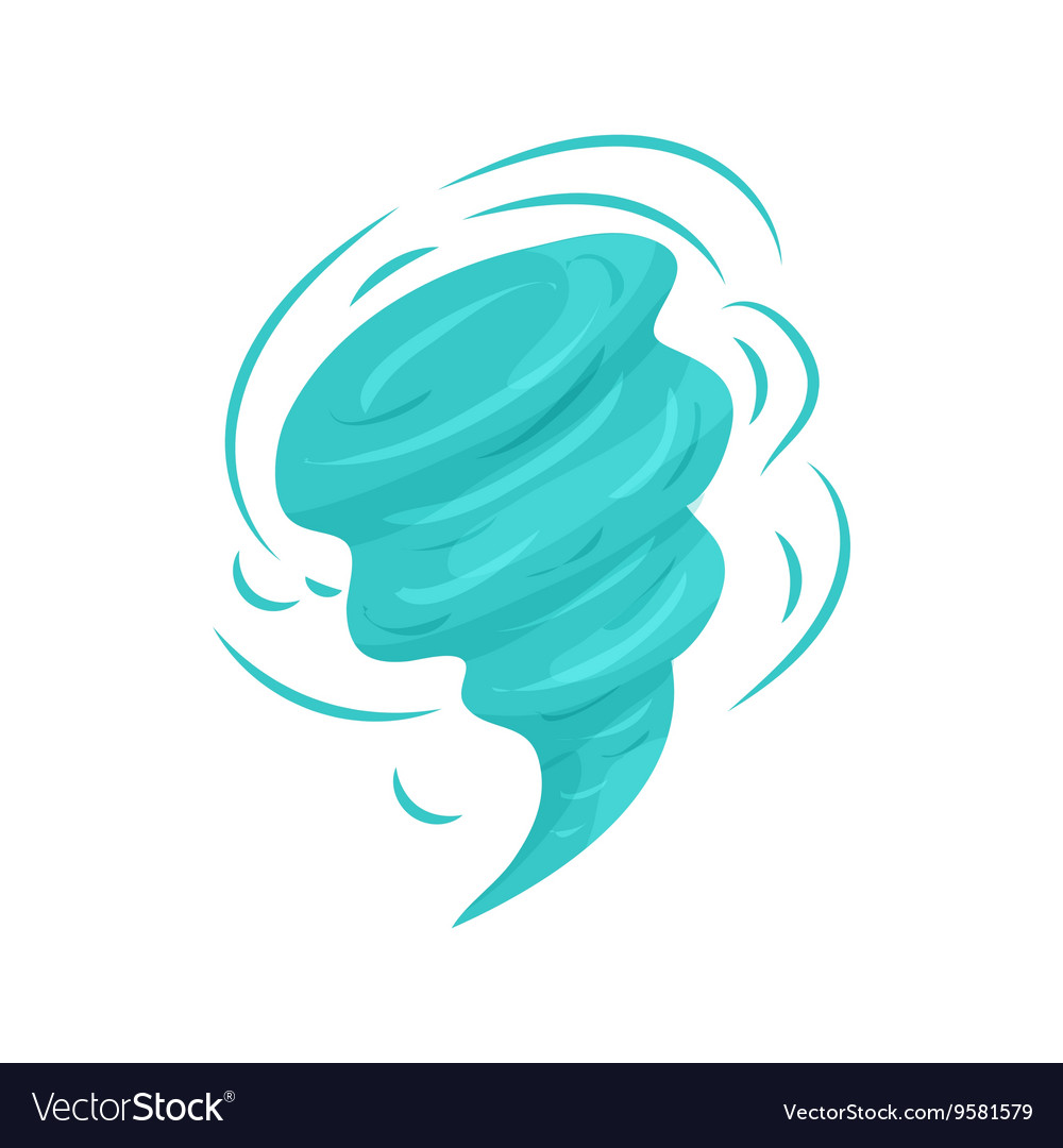 Tornado icon in cartoon style vector