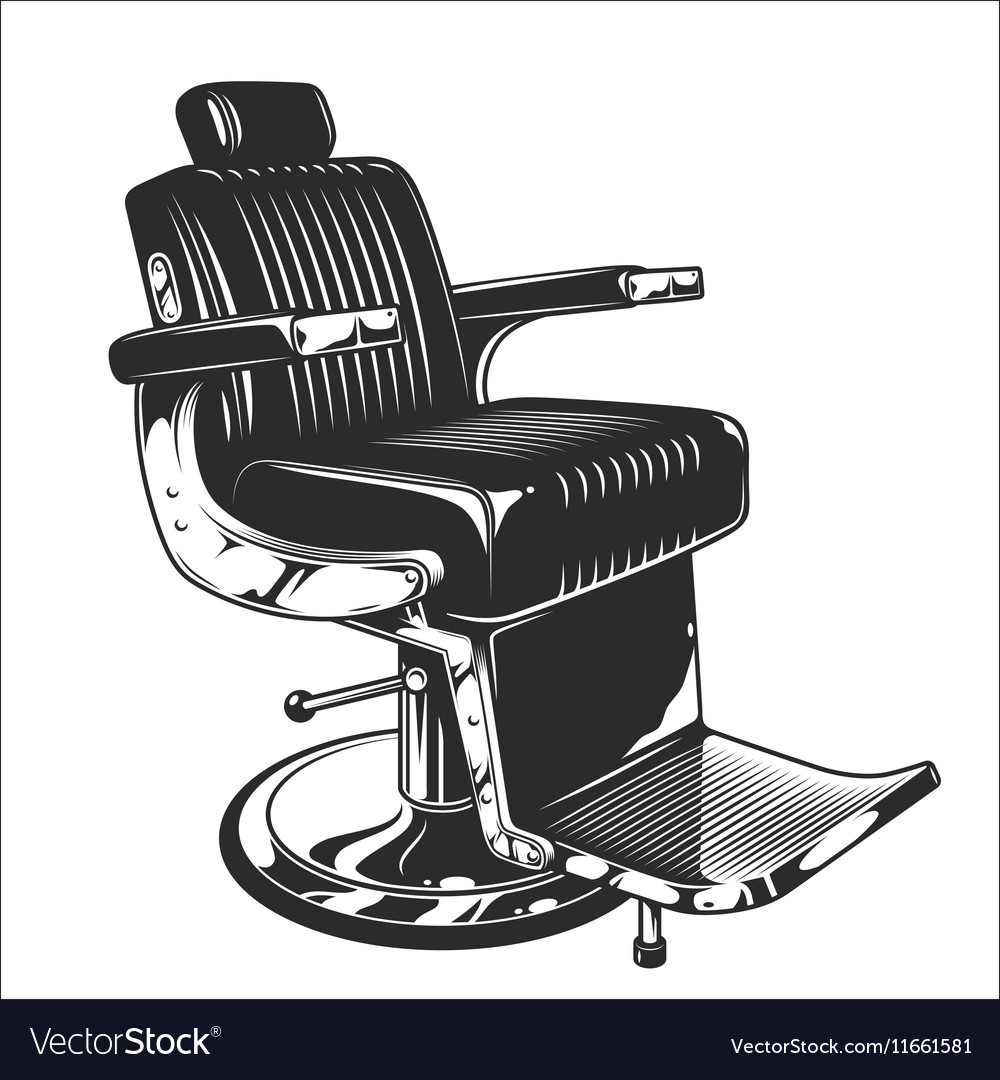 Barbershop chair vector