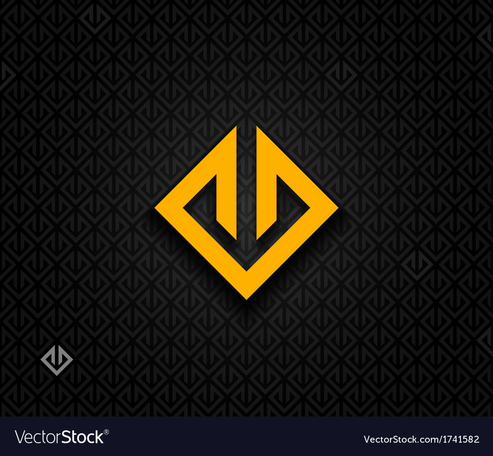 Abstract square symbol vector