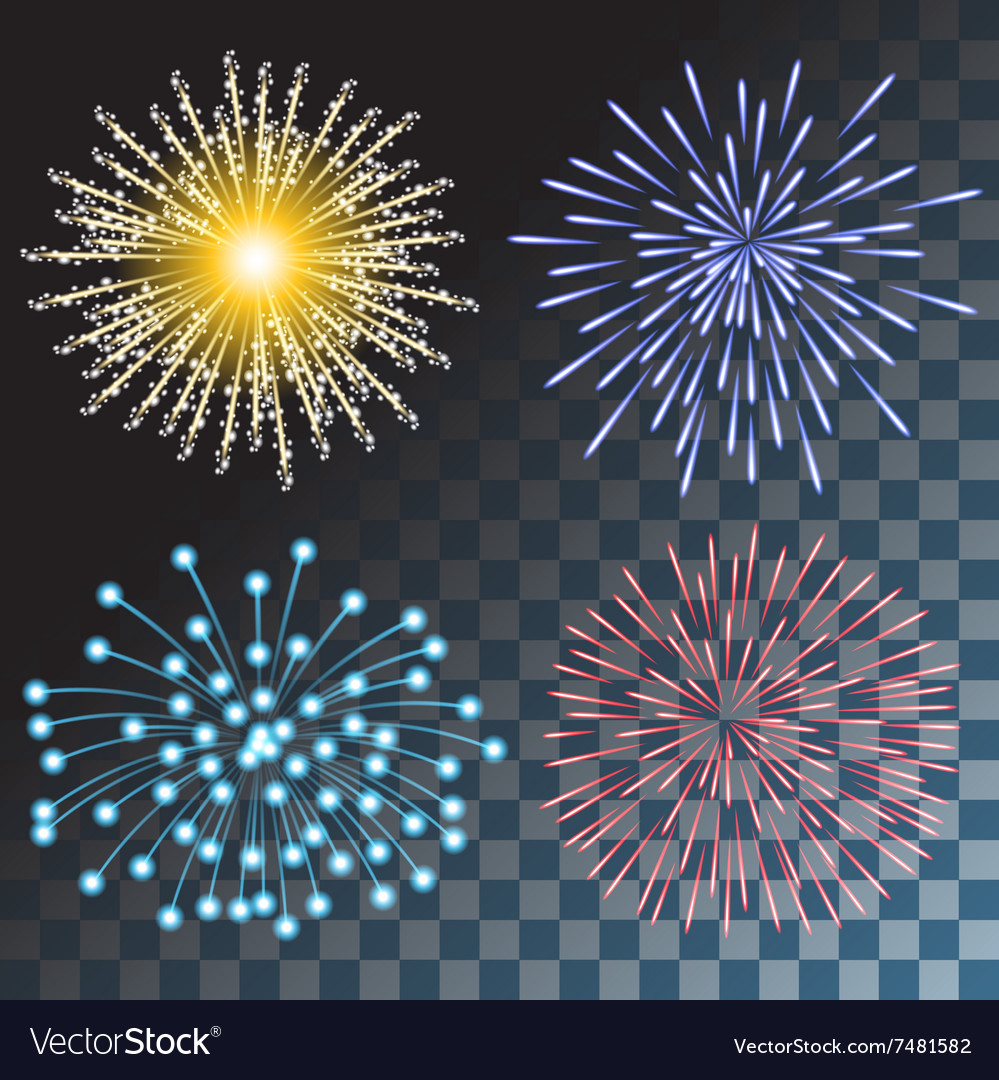 Colorful fireworks vector