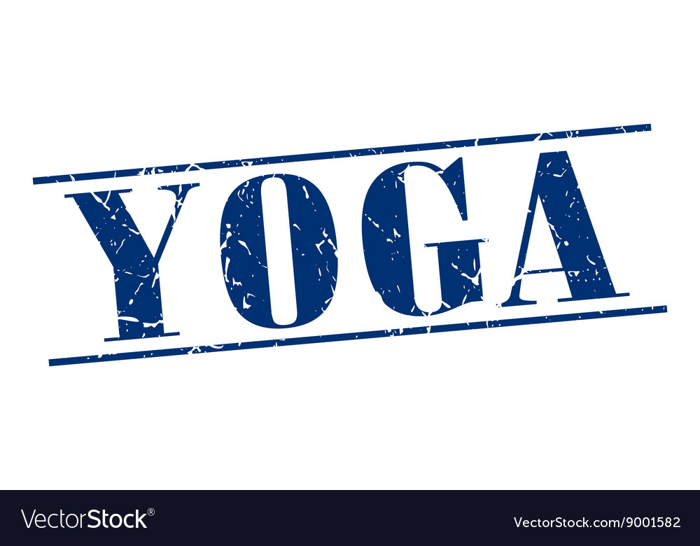 Yoga blue grunge vintage stamp isolated on white vector