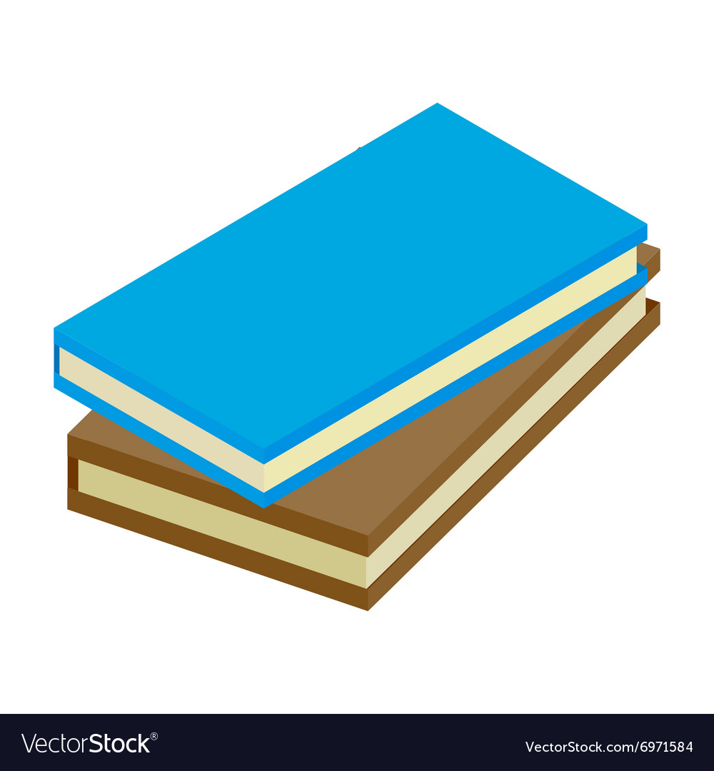 2 books isometric 3d icon vector