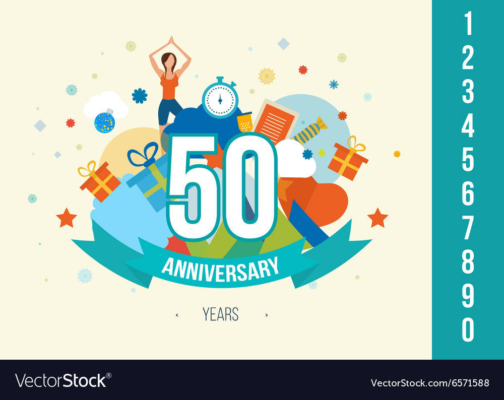 Anniversary happy holiday celebration emblems set vector