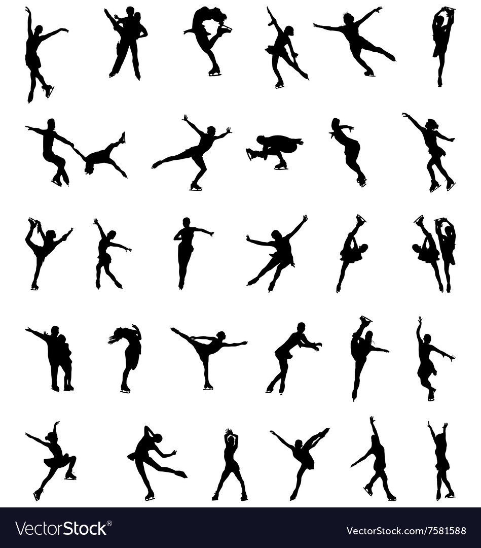 Silhouettes of skaters vector