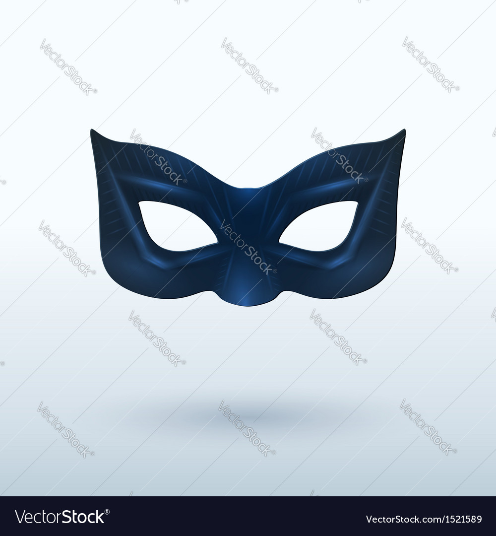 Black leather mask for superhero vector