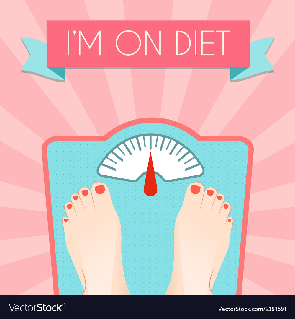 Healthy diet weight poster vector