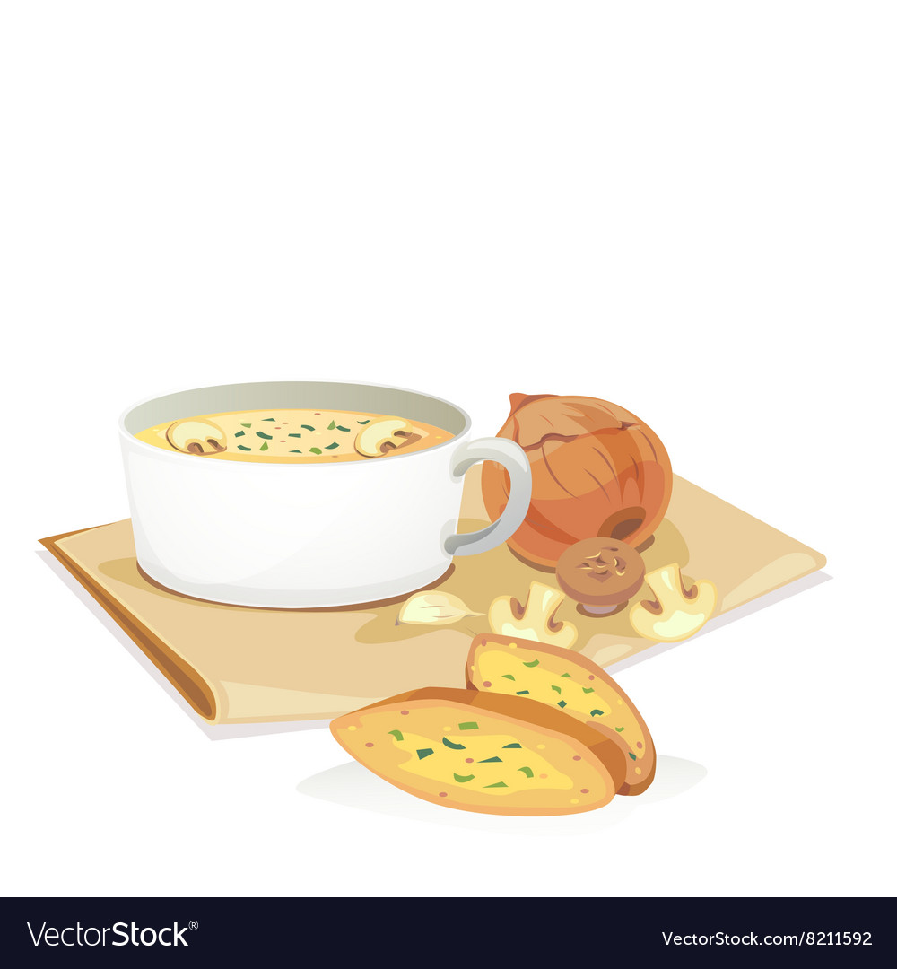 Mashroom soup2 vector