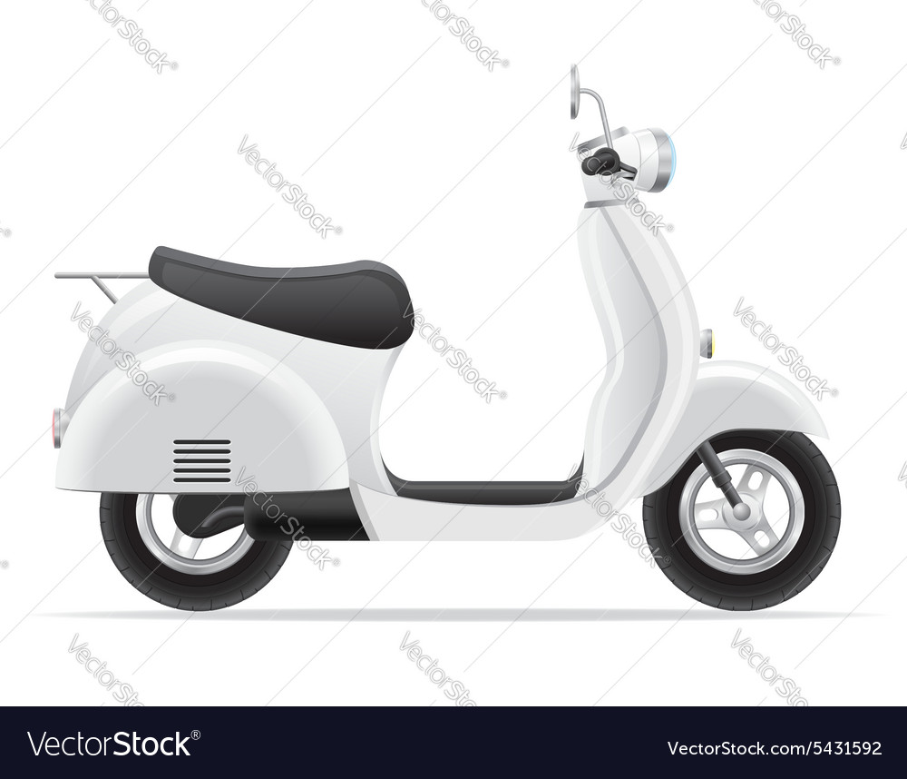 Retro scooter 01 vector