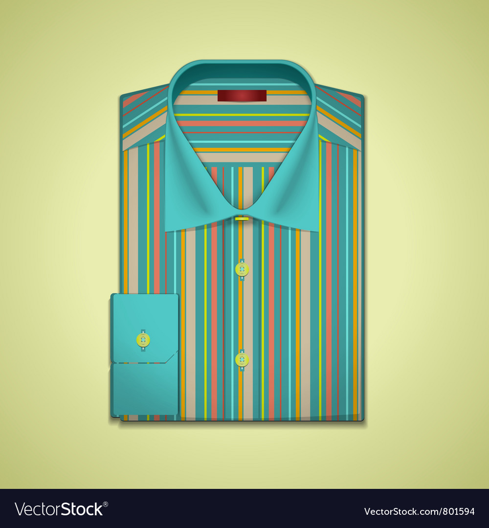 Striped shirt vector