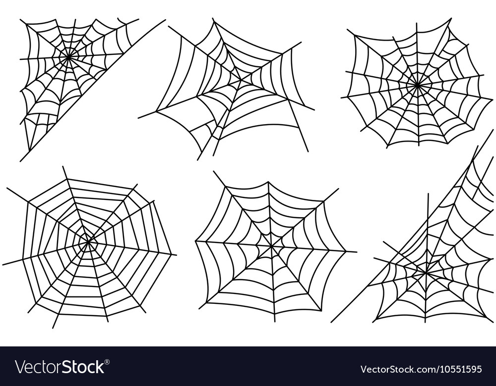 Halloween spider web icons vector