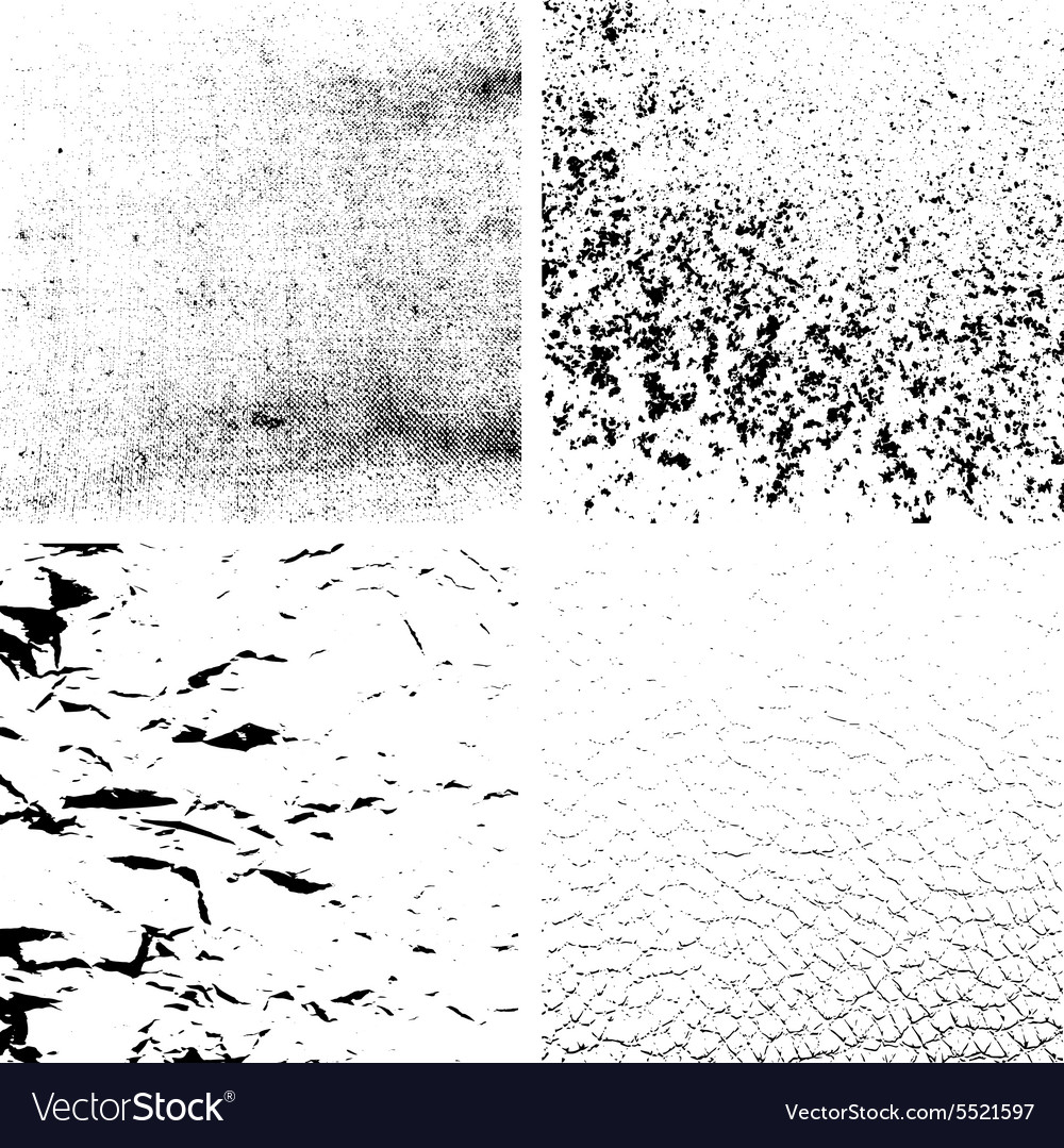 Grunge textures set  abstract backgrounds vector