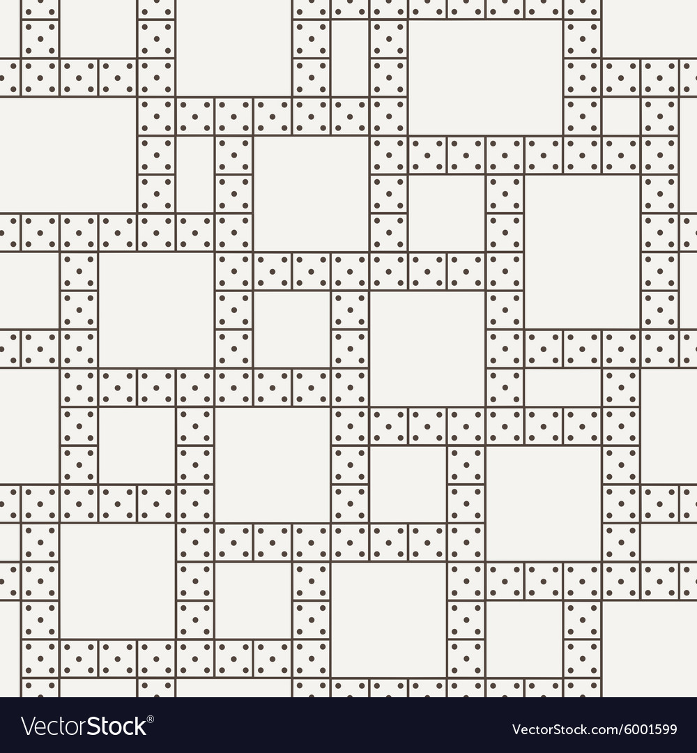 Seamless pattern of the dominoes vector
