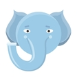 Elephant Mask Isolated on White Boar or Mammouth vector image