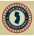 Vintage label New Jersey vector image