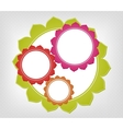 Abstract colorful frames background vector image vector image