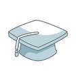 graduation cap school finish success concept vector image
