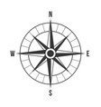 compass silhouette vector image