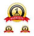 Warranty emblems vector image
