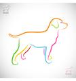 image of an dog labrador vector image vector image