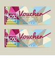 30 - 50 Percent Discount Voucher Template vector image