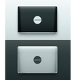 Two Laptops vector image vector image